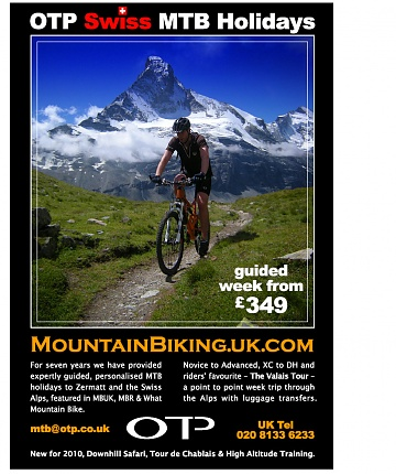 OTP - Swiss Guided Mountain Biking tours in the Swiss Alps