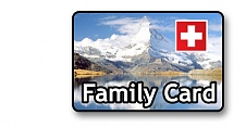 Swiss Family Card - save money when traveling on Swiss Rail